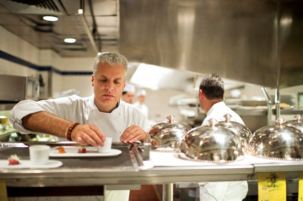 Eric Ripert in La Bernardin, image from New York Times