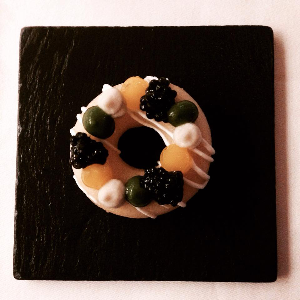 One of the chef's signature dishes, the Northern Divine Caviar Donut